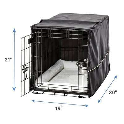 MidWest iCrate Double Door Collapsible Wire Dog Crate Kit French Bulldog